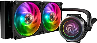 Cooler Master MasterLiquid ML240P Mirage Addressable RGB Close-Loop CPU Liquid Cooler, Transparent Pump, 24 Independently-Controlled LEDs, Dual 120mm Square Fan w/Outer-Ring Connecting Fan Blades