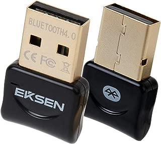 蓝牙 CSR 4.0 USB 加密狗适配器,EKSEN 蓝牙发射器和接收器支持 Windows 10、8、7、Vista、XP 32/64 位笔记本电脑,适用于蓝牙扬声器、耳机、键盘等
