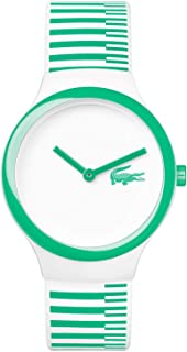 Lacoste Women's White Dial Color Silicone Band Watch - 2020117