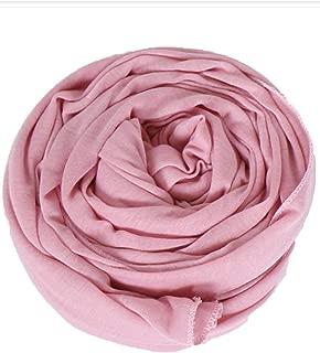 Women's Long Cotton Head Scarves Lady Light Soft Fashion Solid Hair Scarf Wrap Shawl