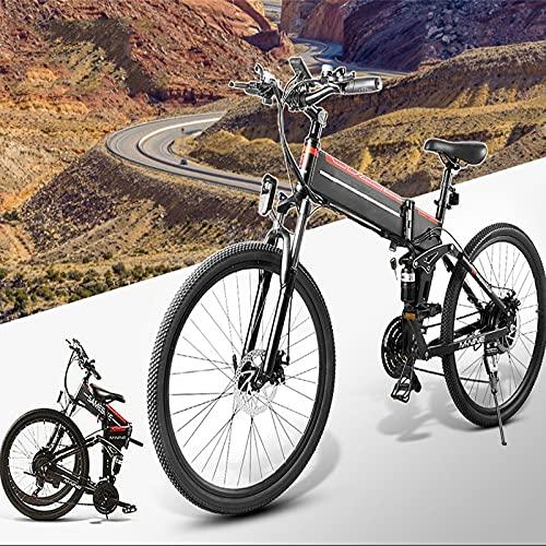 SUNWEII Bicicleta Electrica Plegable 500W Bicicleta Eléctrica Montaña, 26