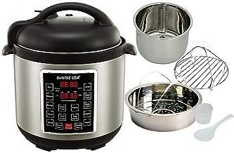 Instant Pot Pressure Cooker 12 in 1 Programmable Electric Steel Instapot 6 Quart + CG60652