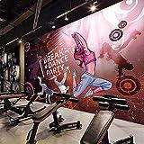 Autoadhesivo 3D Mural Extraíble 300 * 210Cm Hip-Hop Street Dance Graffiti Aula Música Efecto 3D De Papel Tapiz Fotográfico Niño Salón Dormitorio Pegatinas Para Pared Decoración