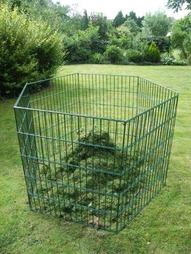 Sia Laub & Rasenschnitt Komposter Oktagon über 3.200 Liter Füllvolumen grün
