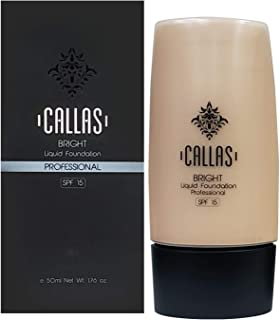 Callas Bright Liquid Foundation SPF 15 (01 Light Beige) 1.76fl.oz/50ml