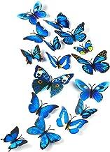 TUPARKA 36 stuks 3D vlinders decoratie vlinder wanddecoratie vlinder muursticker 3D wandtatoo vlinders balkon decoratie (b...