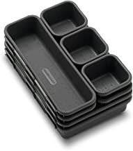 Made Smart 59601 madesmart Value 8-Piece Interlocking Bin Pack- Granite | VALUE COLLECTION | Customizable Multi-Purpose St...