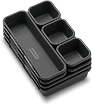 madesmart Value 8-Piece Interlocking Bin Pack - Granite | VALUE COLLECTION | Customizable Multi-Purpose Storage | Durable | Easy to Clean | BPA-Free