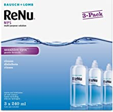 Bausch + Lomb ReNu MPS Multi- Purpose Solution, 240ml, Pack of 3