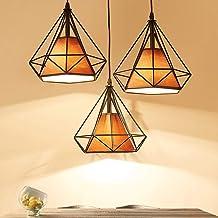 Minimalist Ceiling Light 3 in 1 Round Base Diamond Pendant Light Nordic Lighting Ceiling Light Hanging Light -Z89