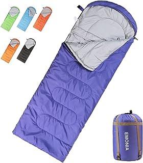 Emonia Camping Sleeping Bag,Three Season Waterproof Outdoor Hiking Backpacking Sleeping Bag Perfect for Traveling,Lightweight Portable Envelope Sleeping Bags for Adults,Kids,Girls and Boys