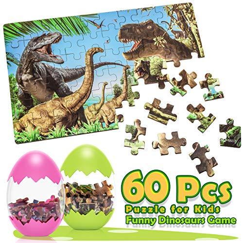 Dreamingbox Juguete Niño 2-8 Años, Dinosaurios Juguetes Puzzle Infantiles 3-8 Años Huevos de Dinosaurio Regalos Niña 2-8 Años Puzzles Educa Regalos Cumpleaños Niños Colegio Puzzle 2-8 Años