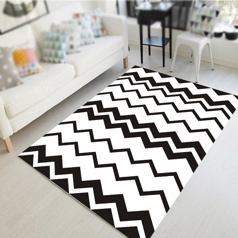autorización XIN-Carpet XIN-Carpet XIN-Carpet Sala de Estar Mesa de café Alfombra geométrica Dormitorio Alfombra de Noche Sala de Estudio Alfombra nios Alfombra de rastreo Alfombra en blancoo y Negro Moda Alfombra Simple  para proporcionarle una compra en línea agradable
