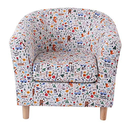 DULPLAY Rocking Cartoon Kid's Chair, Children Armchair Baby's upholstered Couch Removable Couch for Preschool Children -D 49x49x49cm(19x19x19inch)
