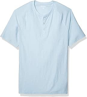 Men's Slim-fit Short-Sleeve Slub Henley T-Shirt