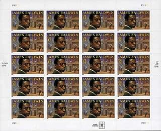 James Baldwin Pane of 20 x 37 cent U.S. Postage stamps