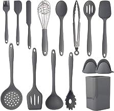 Cooking Utensils Set,Silicone Kitchen Utensils Set 15PCS,Non-Stick Silicone Kitchen Cooking,Heat Resistant 446°F Gadgets C...