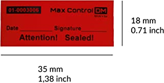 100 Customs Stickers Quality Control High Security Tamper Evident Warranty Void Labels (6,5 inch, Red)