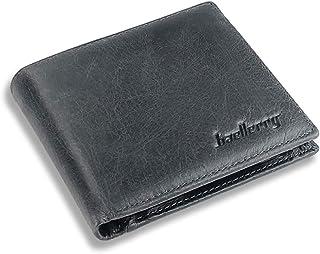 Portafoglio da uomo in vera pelle con clip e scomparto portamonete sottile portamonete da uomo con confezione regalo