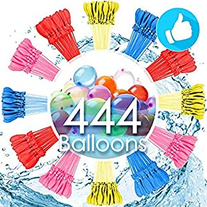 AMZGIRL 444Pack Water Balloons with Refill Kits, Latex Water Bomb Balloons Fight Games - Summer Splash Fun for Kids & Adults2