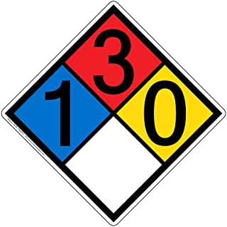 NFPA 704 1-3-0-0 Sign, 15 inch Aluminum for Hazmat by ComplianceSigns
