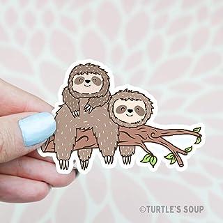 Sloth Sticker, Cute Stickers, Friendship, Best Friends, Bestie Gift, BFF, Happy Sticker, Sloth Art, Animal Stickers, Home Decor, Nursery