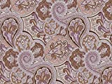 Dekostoff Vorhangstoff Samt Ornamente Paisley Muster lila