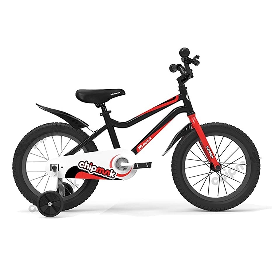 自分の粉砕するトレッドBAOMEI 子ども用自転車 キッズバイク18インチ、高炭素鋼子供用自転車、トレーニングホイール付き、8?13歳の男の子と女の子用、赤