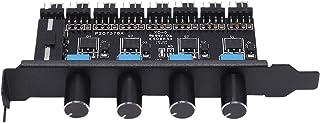 NO BRAND Dasorende PC 8 Canales Ventilador Hub 4 Perillas Controlador de Velocidad del Ventilador de RefrigeracióN para CPU Caja HDD VGA PWM Ventilador Soporte PCI 12V Ventilador Control Fuente