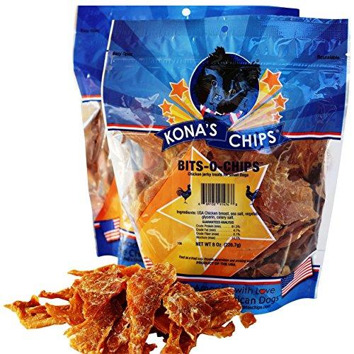 KONA'S CHIPS 2 Pack Bits-O- Chips 8 OZ; Small Dog Treats