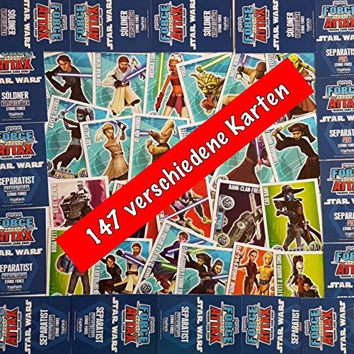 Force Attax Star Wars Serie 1 - 147 Verschiedene Karten - Sehr selten - Absolute Rarität