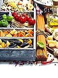 Bilderdepot24 Vlies Fototapete - Italienische Pasta - 150x200 cm - mit Kleister – Poster – Foto auf Tapete – Wandbild – Wandtapete – Vliestapete