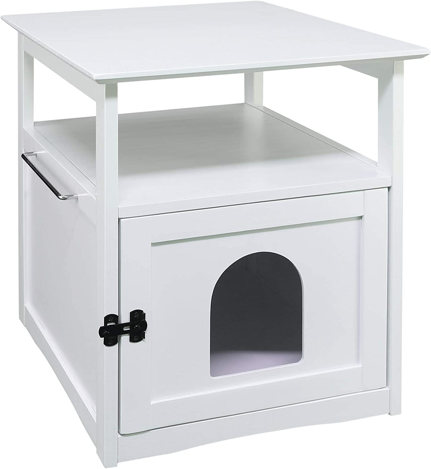Casual Home 60841 Aristo Wooden End TableWhite Litter Box, 20.5  W x 23.5  D x 25  H,