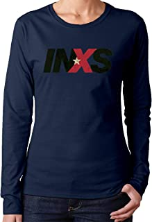 Long Sleeve T Shirt Women Round Shirts for Women with The Farriss Brothers INXS Pattern