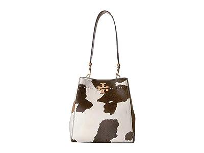 Tory Burch Mcgraw Calf Hair Hobo (Amarena/Natural) Handbags