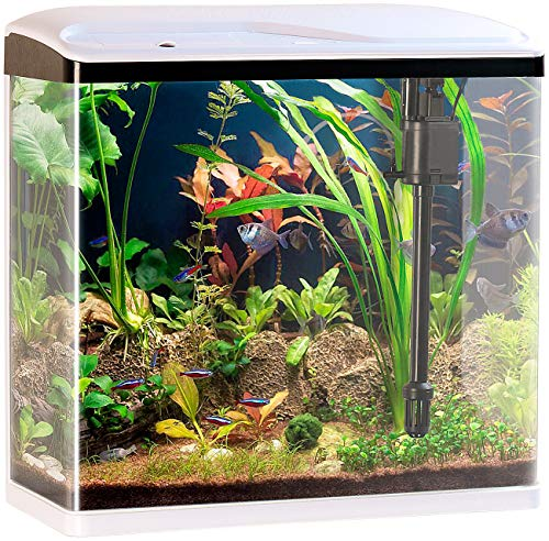 Sweetypet Aquarium Komplettset: Nano-Aquarium-Komplett-Set mit LED-Beleuchtung, Pumpe & Filter, 40 l (Fischbecken)