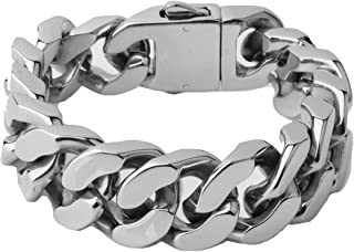 20mm Heavy Stainless Steel Casting Curb Link Chain Strong Men's Bracelet Jewelry