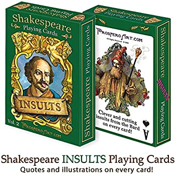 Shakespeare  Insults  Playing Cards
