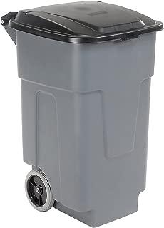 Carlisle 34505023 Polyethylene Rolling Container, 50 Gallon Capacity, 21
