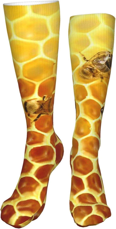 Honeybee Women Premium High Socks, Stocking High Leg Warmer Sockings Crew Sock For Daily And Work