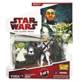 Star Wars 2009 Clone Wars Animated Action Figure 2-Pack Yoda and Jek