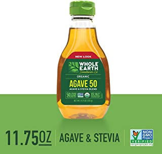 WHOLE EARTH SWEETENER CO. Agave 50, Organic Stevia & Organic Blue Agave Blend, Sugar Substitute, Natural Sweetener, 11.75 Ounce