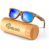 Wood Sunglasses for Men and Women Polarized Wooden Bamboo Wayfarer Style