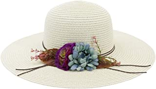 SHENTIANWEI 2019 Spring Summer Retail Flowers Classic Toquilla Straw Panama Hat Dome Straw Hat Women Beach Hat Sun Hat