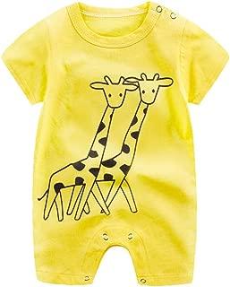 Baby Jungen und M/ädchen Langarm Kuh Print Ohren Hoodies Strampler Babyspielanzug Overall Bodysuit Romper Kleidung Outfits 3-24 Monate wuayi Baby Body