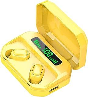 Auleset 309 Mini Trådlös Bluetooth 5.0 Uppladdningsbar Smart Touch In-ear Stereo Hörlurar - Gul