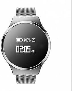 Pulsera Inteligente con Pulsómetro,Pulsómetro Pulsera Actividad con Control de actividad,Monitor de Sueño,Notificación de mensajes,calorías quemadas,Pulsómetro Reloj para SmartPhones iPhone y Android
