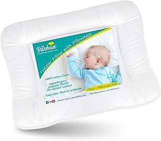 بالش کودک نوپای کودک برای خوابیدن با بالش (13 18 18) ، بالش های تخت کودک کودک هیپوآلرژنیک ، سفر نرم و ایمن بالش کوچک کوچک متناسب با Mini Crib یا Crib