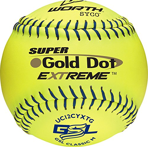 "Worth GSL Slow-Pitch Pro Comp XT Classic Soft Balls, 12"" (Dozen)"