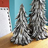 Gilded Rustic Feather Christmas Tree - 16' Silver Farmhouse Autumn or Fall Decor